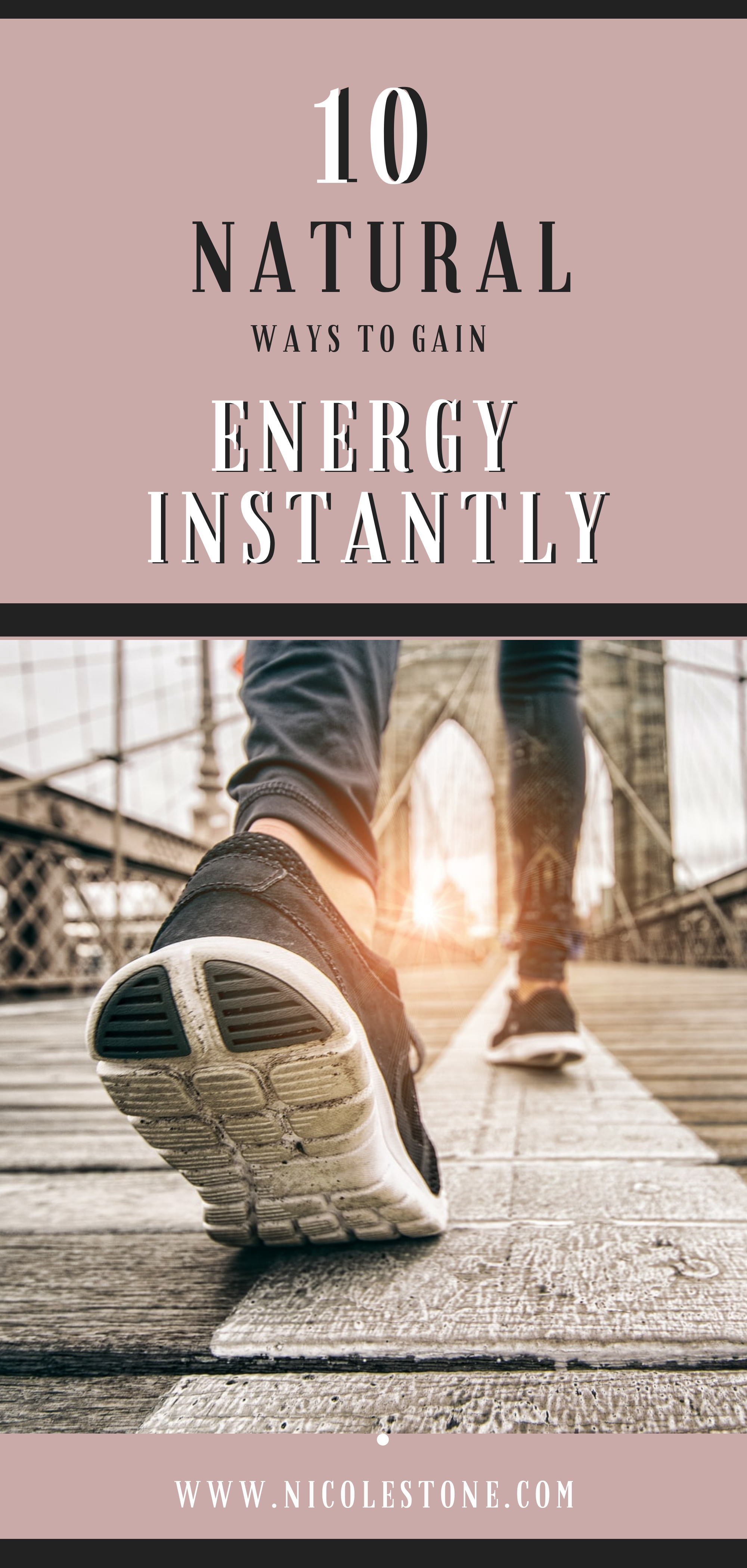 Check out these 10 ways to boost energy instantly! These are all natural ways you can boost your energy and your health. This guide will help you become focused and get more done. #healthy #productivity #health