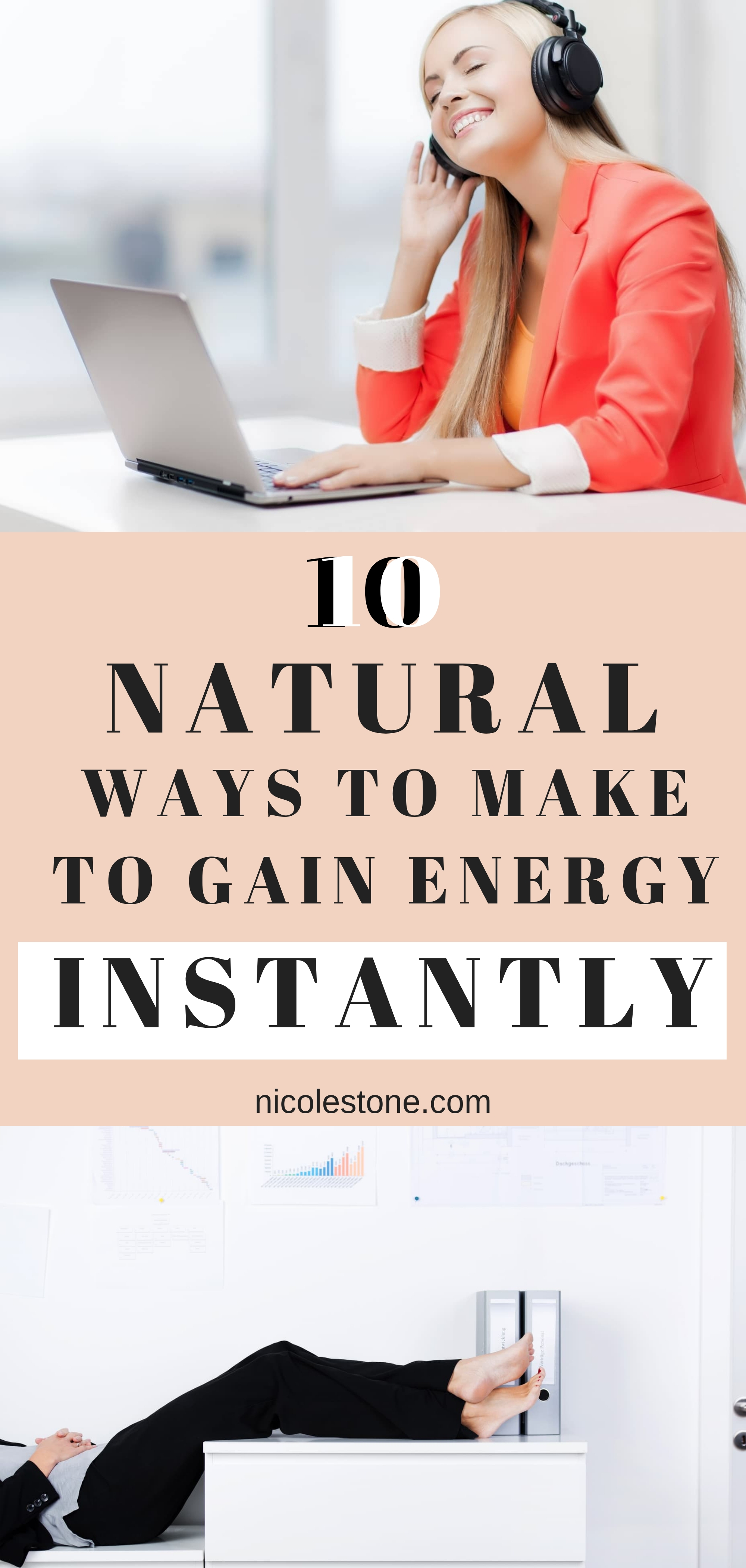 10 Natural Ways to Gain Energy Instantly! You don't need to down energy drinks all day… instead try these 10 natural ways to gain energy instantly! #energy #productivity #healthyhabits #health