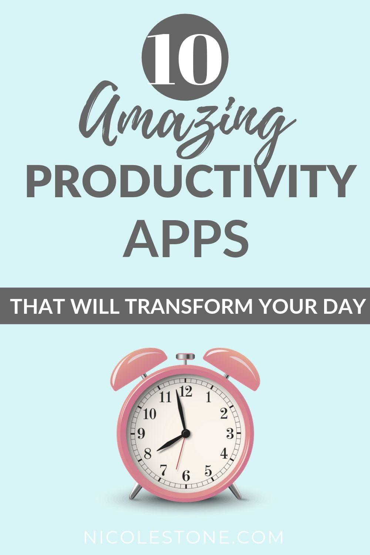 10 AMAZING productivity apps.
