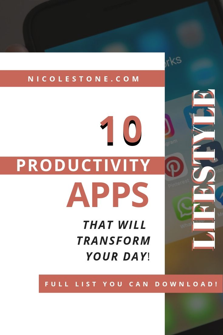 The 10 BEST productivity apps that will transform your day! Read about these 10 apps that will make your every day life more productive! #productivity #productivie #timemanagement #personalgrowth #personaldevelopment
