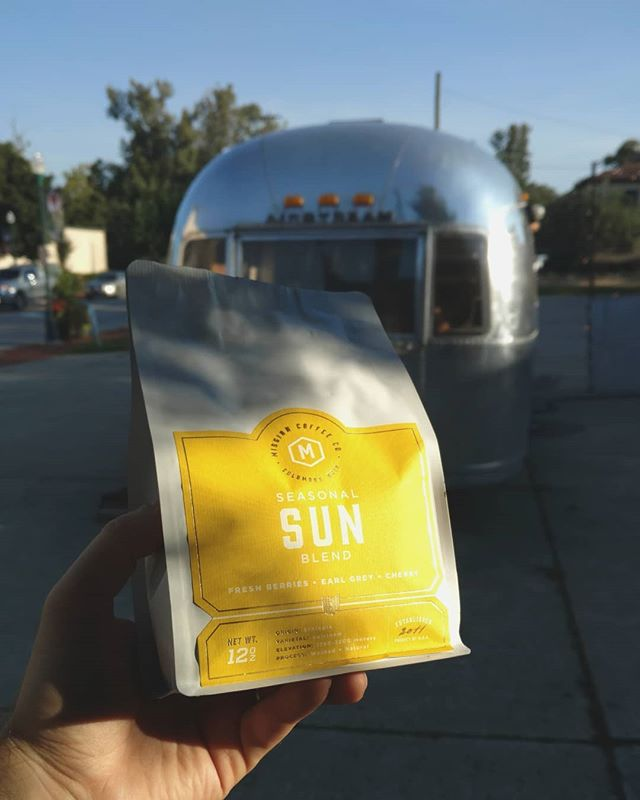 The sun is rising, but this Sun is setting. This is the last bag of the Summer blend from Mission, so if you want a pour over, come in today! . . . . #blankslatecoffee  #airstream  #coffeeshop  #creeksidegahanna  #missioncoffee