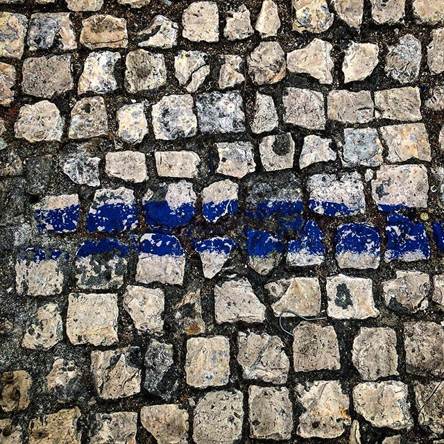 #cobblestone #graphic #blue #blueline #contrast