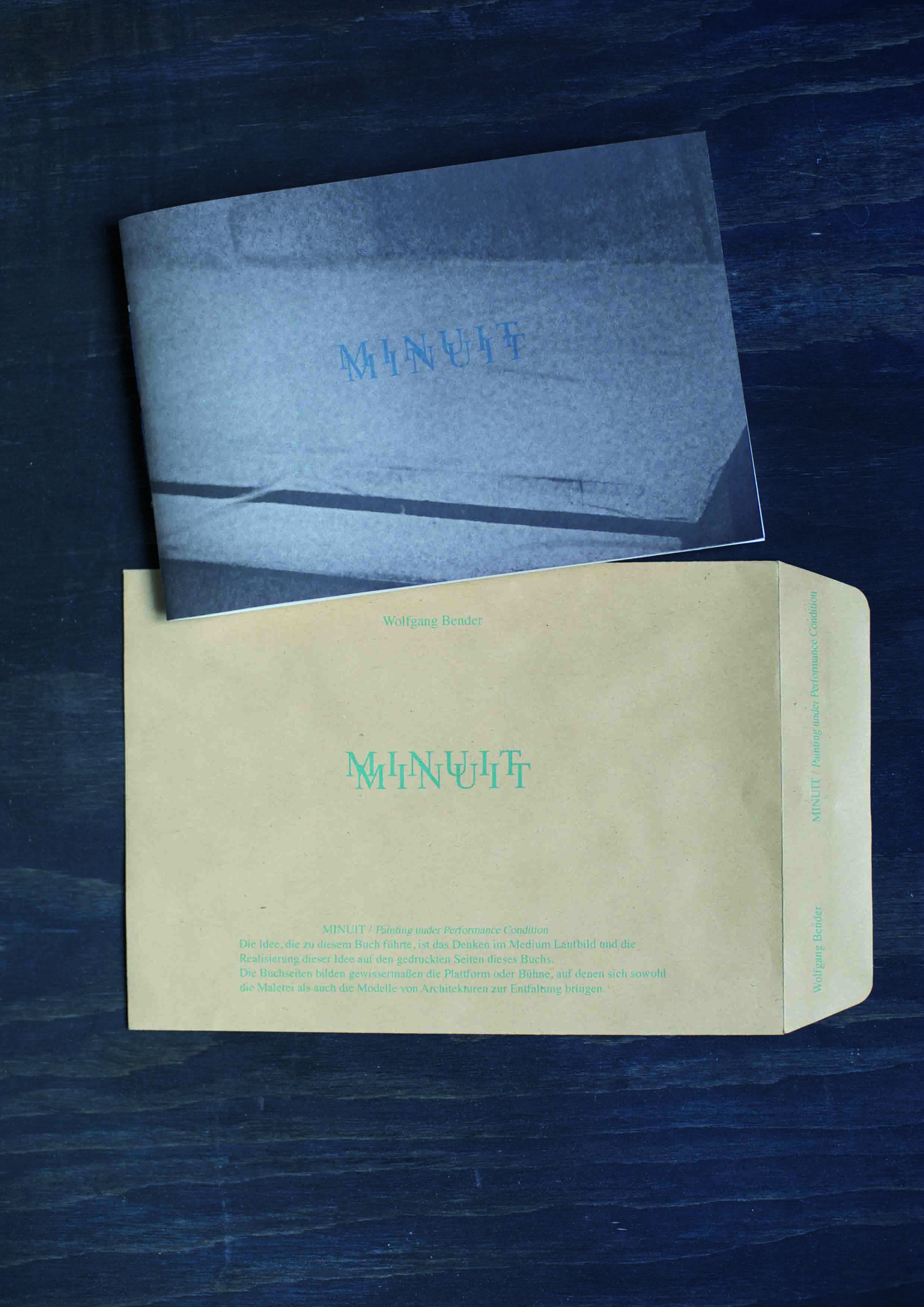 MINUIT, Artist Book, self publishing, pigmented ink on Hahnemühle Nostalgie 190gr., hand binding, envelope, Vienna, August 2015    PHOTOGRAPHS:  lambda C-print,  70 x 105 cm