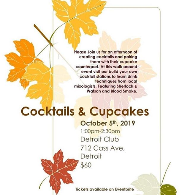 This weekend!! There's still a few tickets available! Get them before they're gone! Our very own bartenders are teaming up with @beckab919 and @goodcupcakesco to teach this class 🍹🧁