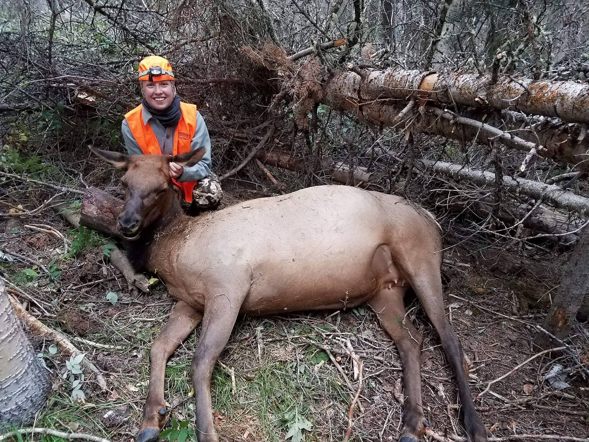Rose's first elk. -
