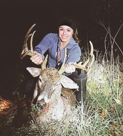 Katie Van Slyke's 11 point buck harvested in 2015 - She shares the story of this buck in this episode.