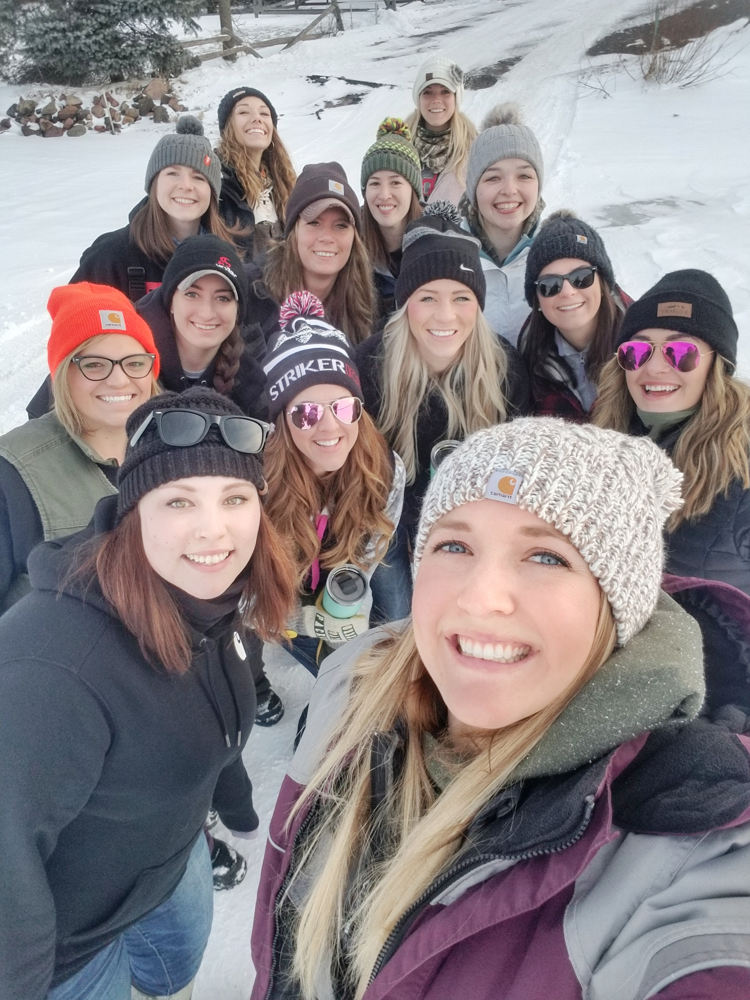 Pre-fishing selfie with some of the ladies from the 2019 Ladies Midwest Meetup.