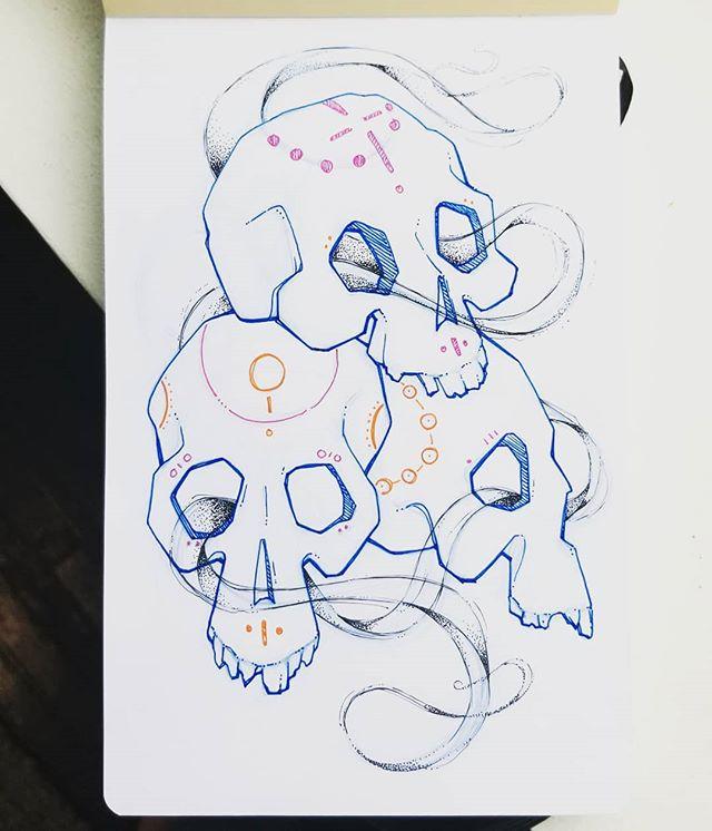 Skully dudes. . . . #illustration #design #sketch #conceptart #visualdesign #sketchbook