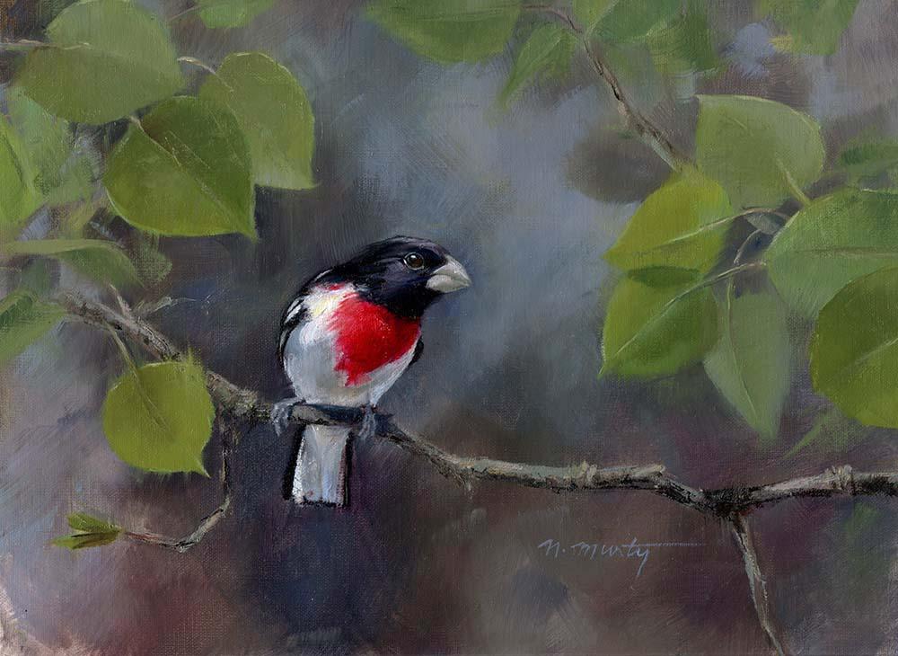 © Nancy Murty •  Seed Breaker  • oil on linen • 9x12 in •  available