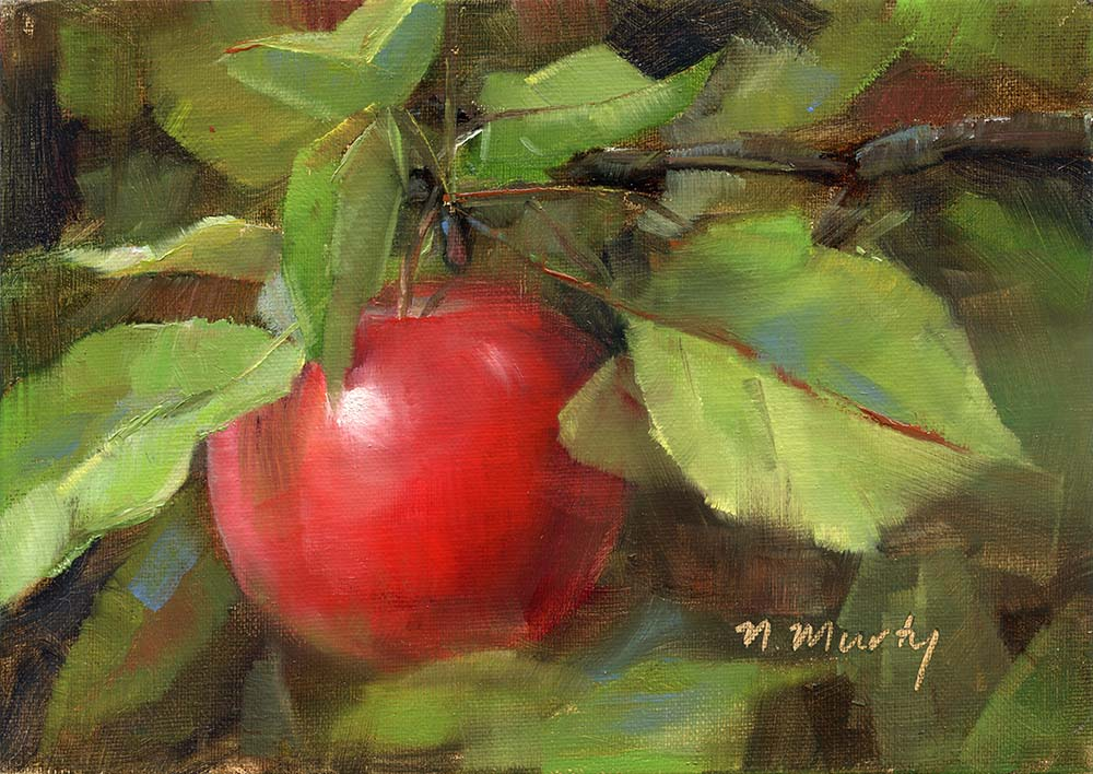 © Nancy Murty •  Apple.1  • oil on linen • 5x7 in • SOLD