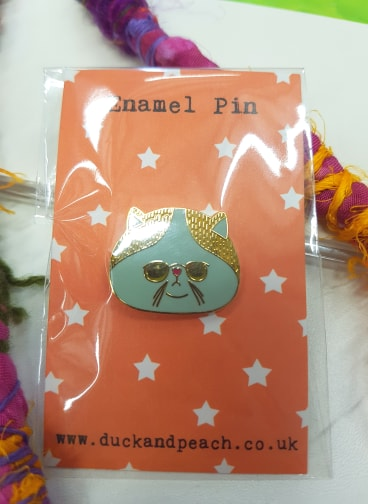 Grumpy Cat Enamel Pin by Duck and Peach £7