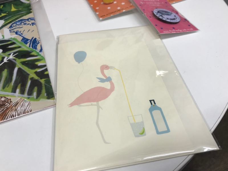 Flamingo Card by The Illustrated Wisp