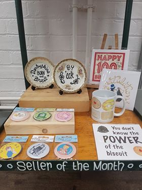 An edited selection of Pixie Drew's wares.