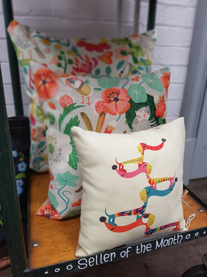 Three sizes of cushions that we stock.
