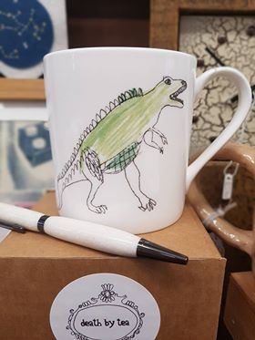 Death By Tea - Dinosaur Mug £12  David Grzona - Resin Pen £12