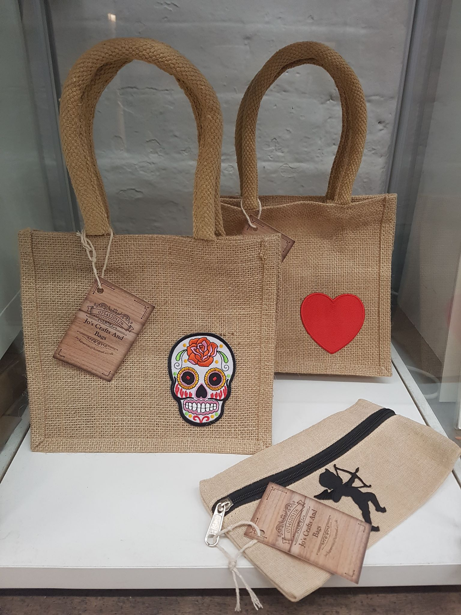 Jo's Crafts & Bags, Pencil cases and Jute Bags from £5
