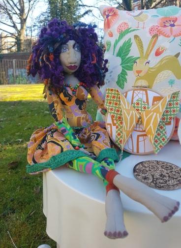 Handmade art doll, by Dolls with Attitude, £38