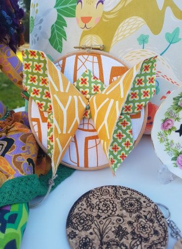 'Flutterby' by Emma Louise Made These, £20.  Also seen: Laser Cut Coaster by Bec Ashford, £4.99