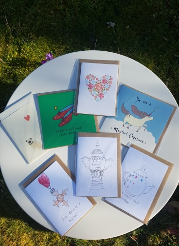 Loads of cards! Prices range from £2.50 - £3.00