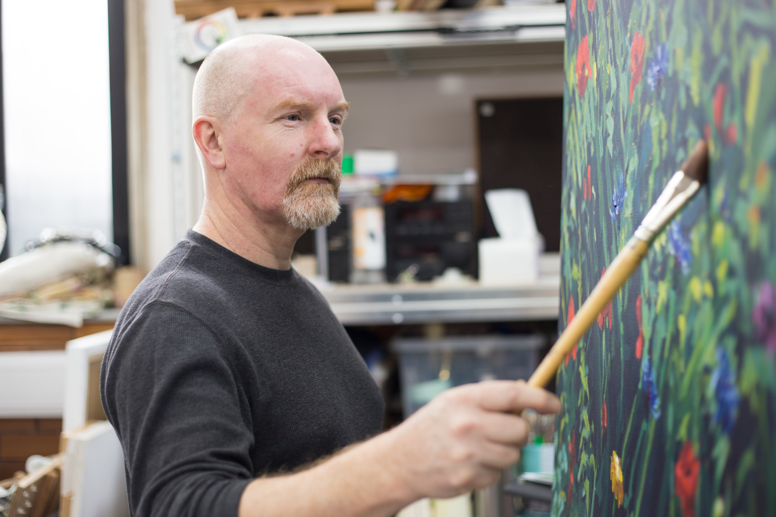 Wallspace Visual Arts - JOHN IS A VISUAL ARTIST WHO EXPLORES HUMAN FIGURES AND STILL LIFE IN HIS WORK. IT MAINLY TENDS TO INCLUDE USING PAINT ON A FLAT SURFACE, HOWEVER HE ALSO ENJOYS DOING 3D SCULPTURE WORK.