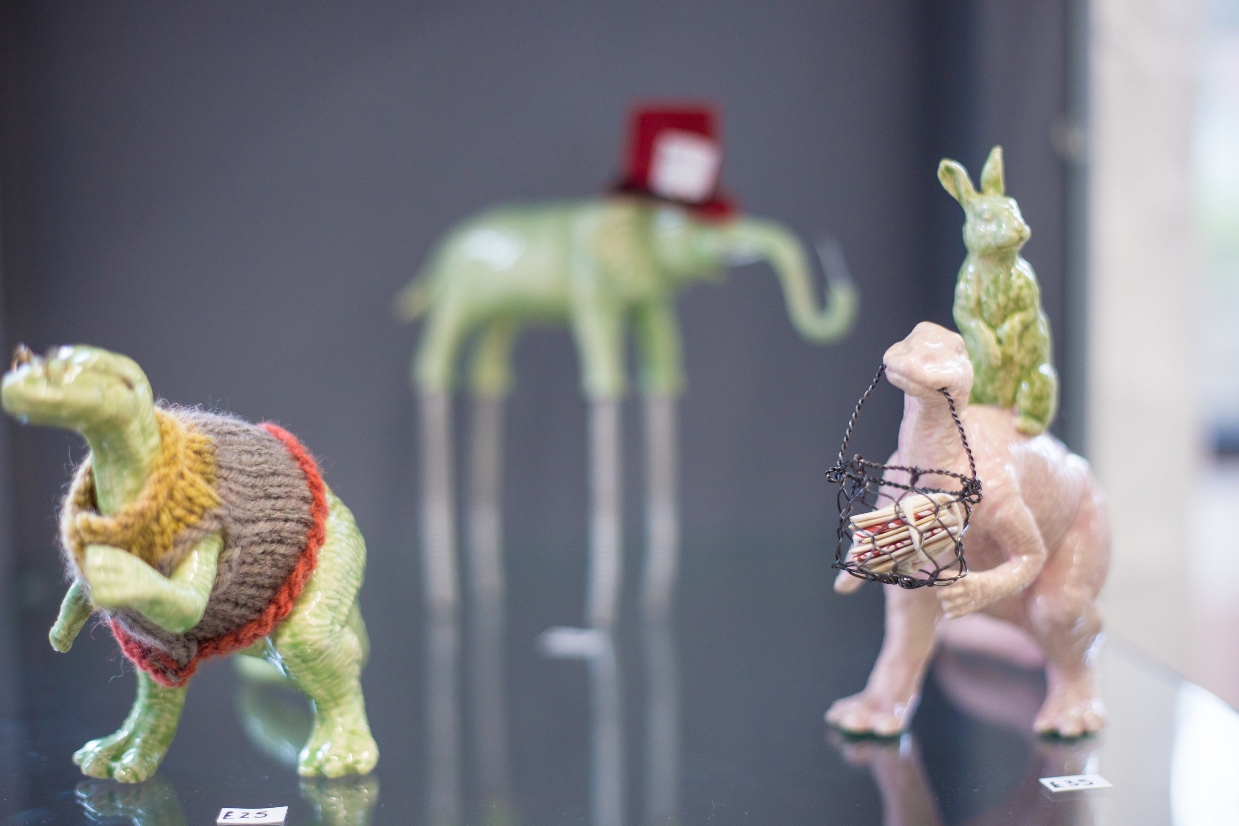Beth Cartwright - A SERIES OF PERSONIFIED CERAMIC ANIMALS WITH HANDMADE ACCESSORIESFUTURE PLANS: SECURED A STUDIO TENANCY AT WEST STUDIOS TO MAKE MORE WORK FOR OTHER RETAILERS