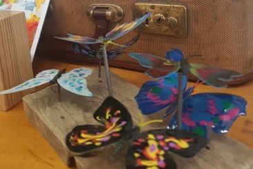 Magnetic Butterflies by Art and Minds Killamarsh, £2 & 50p