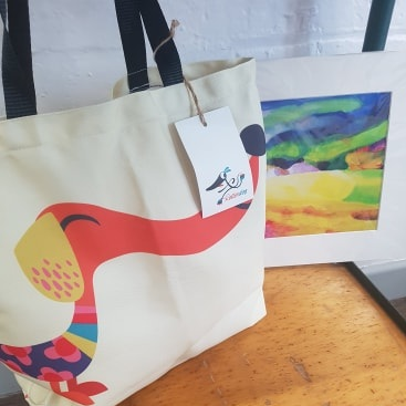 Sausage Dog Tote Bag by Rollerdog Designs *reduced to £13*  Print by Arwyn Quick, £24