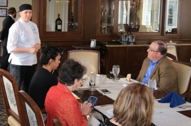 The pastry chef provided us with a private tasting and discussion in The Carolina Dining Room.