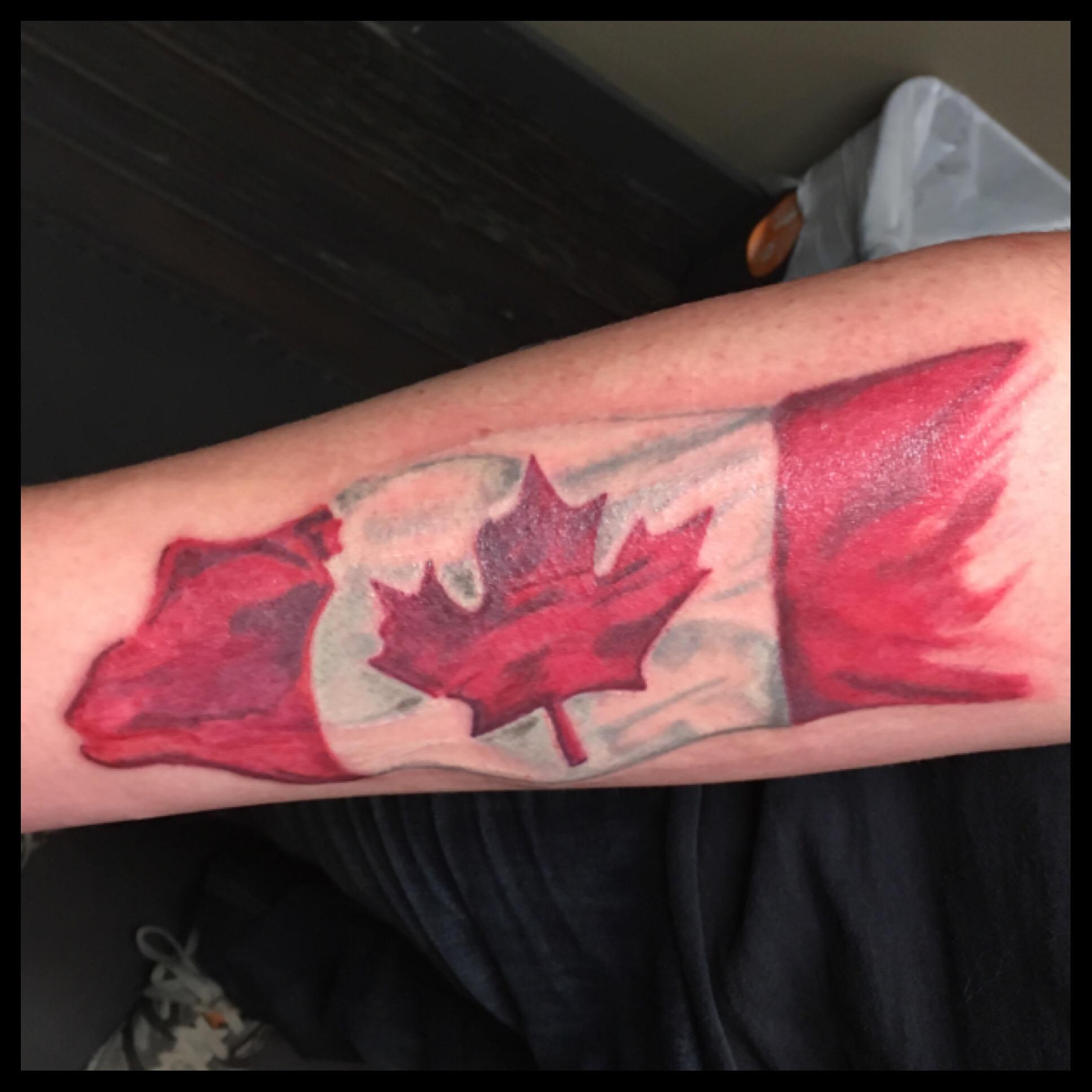 Canadian Flag Tattoo