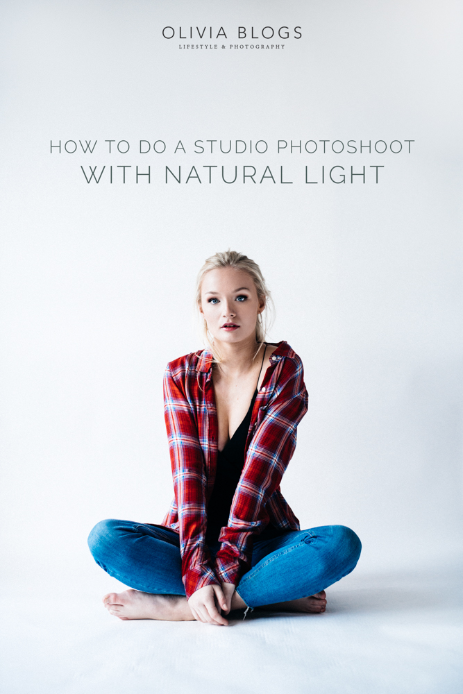 How To Do A Studio Photoshoot With Natural Light | Olivia Bossert Photography | Oliviablogs.com