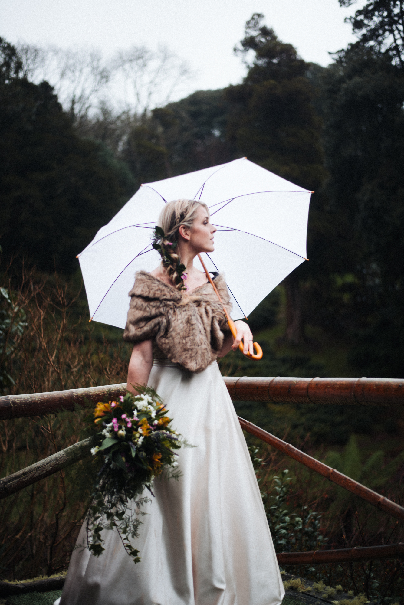 Wet and Wonderful Winter Wedding Inspiration at Tregothnan Estate