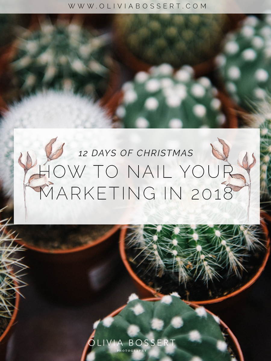 HOW TO NAIL YOUR MARKETING IN 2018 // www.oliviabossert.com // 12 days of Christmas // marketing, online marketing, instagram marketing, small business, 2018 goals