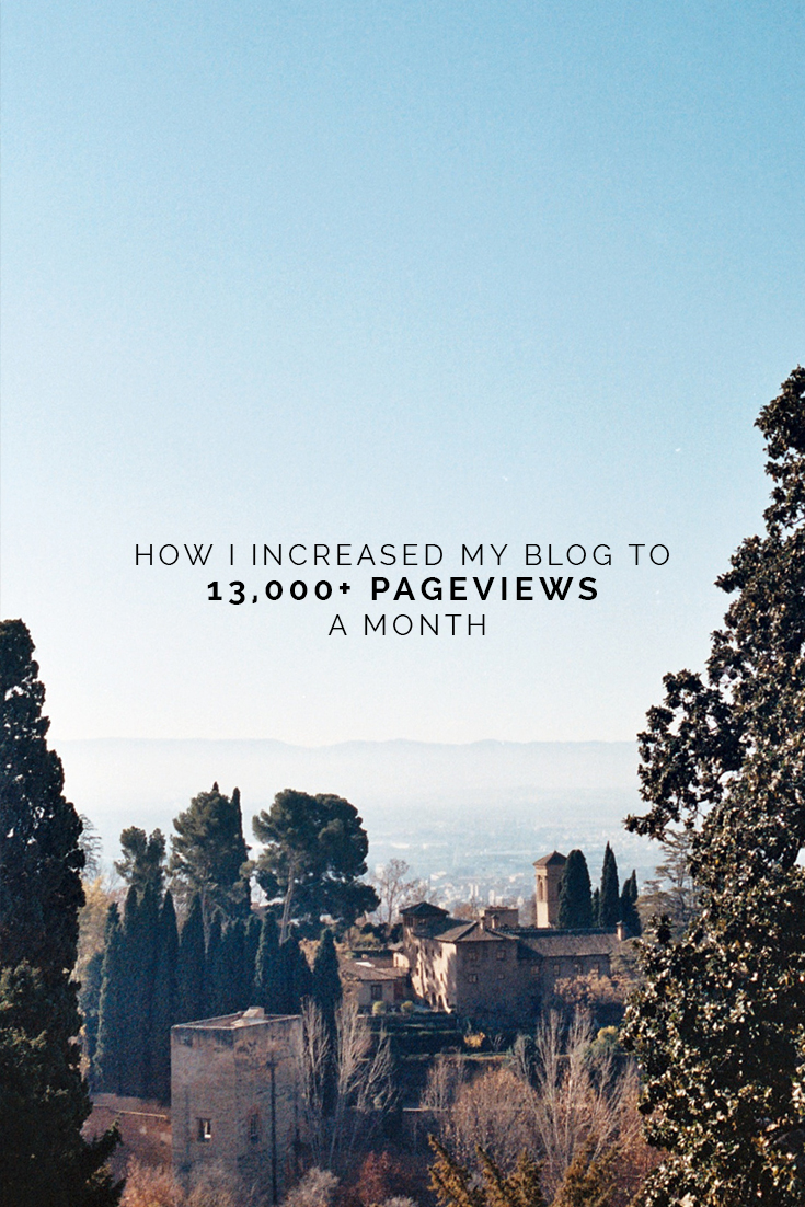 How I Grew My Blog To 13,000+ Pageviews A Month // www.oliviabossert.com // blogging tips, social media tips, content calendar, consistent blogging, business tips, blog growth hacks, quick blog growth, blogging, blog post, conrwall, uk, andalusia, seville, granada, film photography, travel photography