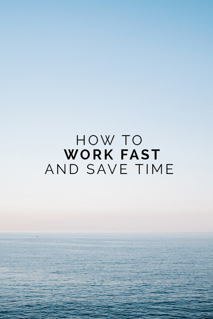 How To Work Fast and Save Time // www.oliviabossert.com // working fast, productivity tips, productivity hack, business tips, work tips, marketing tips, blogging tips, saving time, done is better than perfect, content creation tips