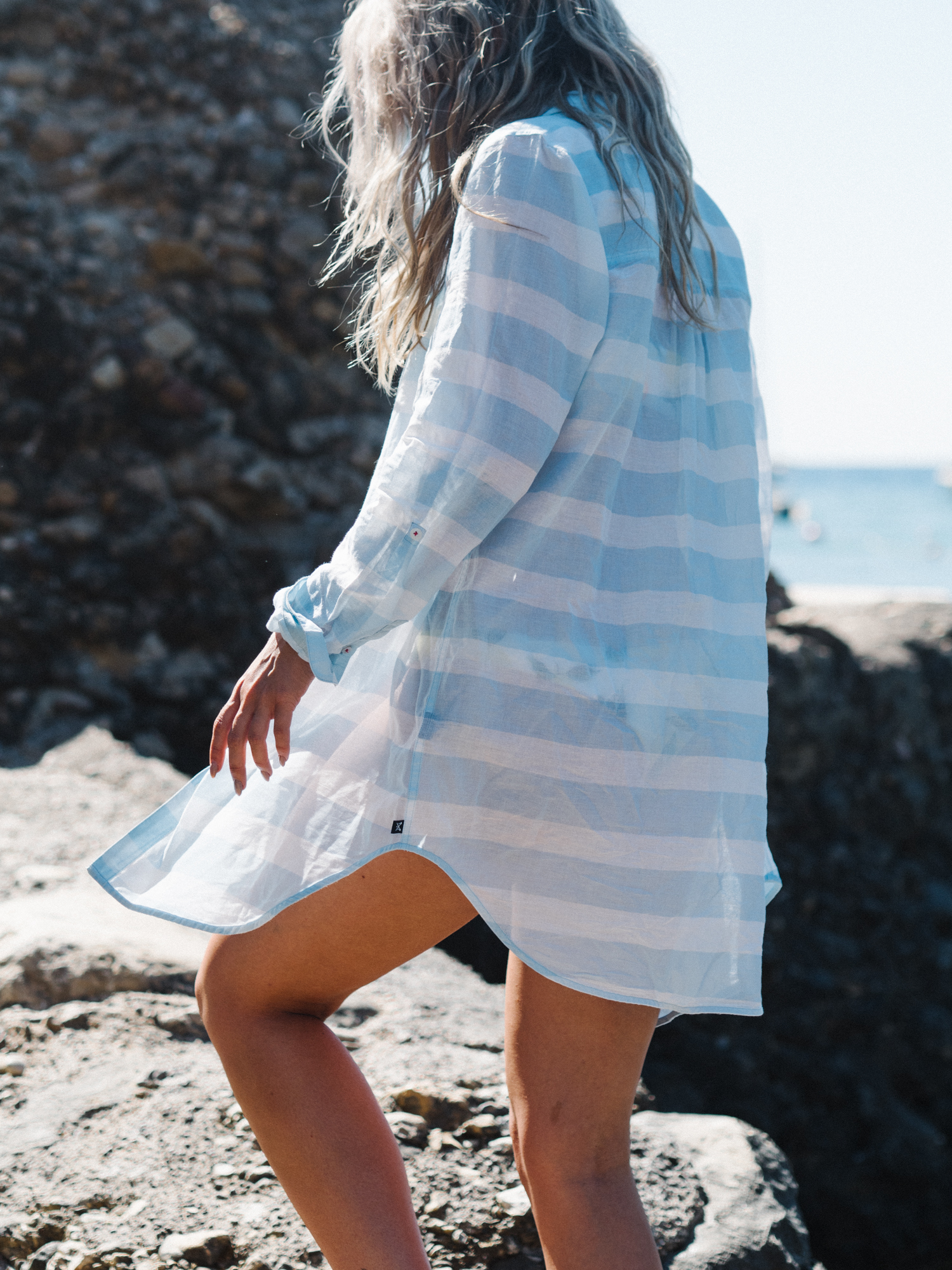 Anna wears the Crew Clothing  Beach Shirt