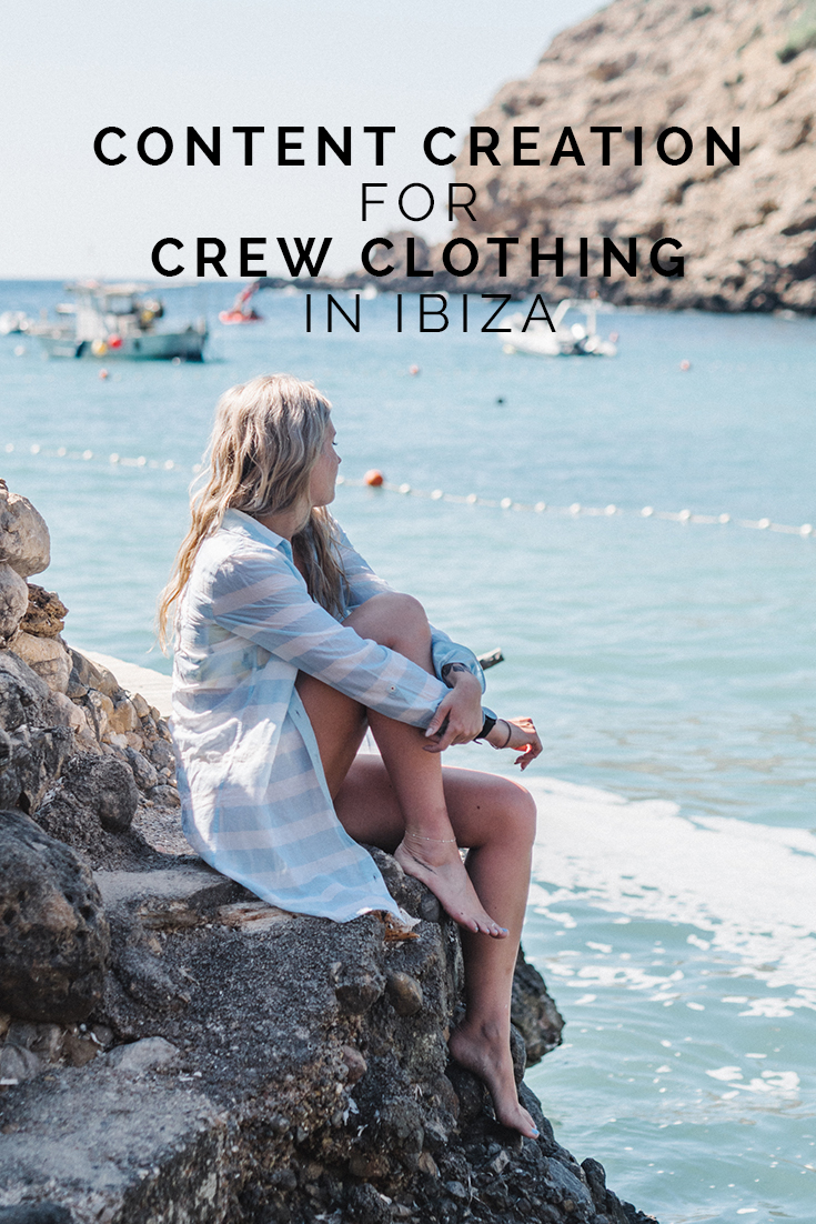 Content Creation for Crew Clothing in Ibiza // www.oliviabossert.com // cornwall photographer, ibiza photographer, content creator, visual creator, crew clothing, sailing brand, coastal brand, sea photography, model, editorial, fashion photography
