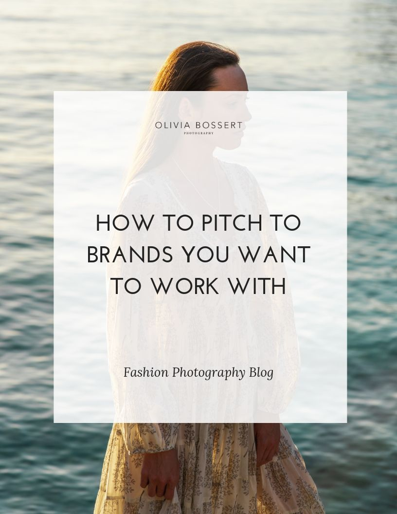 How to Pitch Yourself to Brands You Want To Work With // www.oliviabossert.com //  Learn how to pitch yourself to brands that you dream of working with. Techniques in this blog post go over how to find contact details, how to write a great email, and how to stay organised with your pitching. #pitching #workingwithbrands #photography