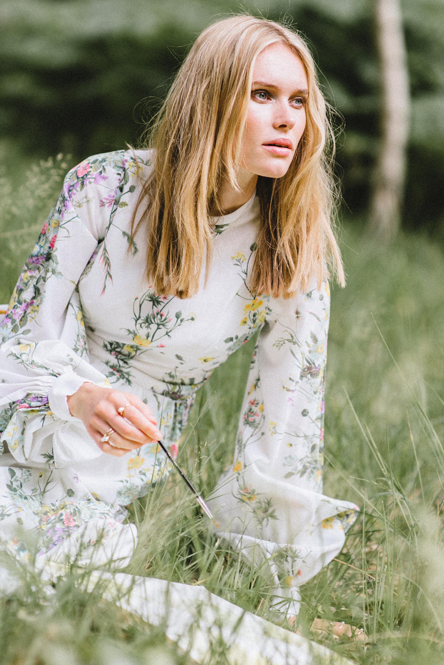 Dress Vintage Laura Ashley, Rings ASOS