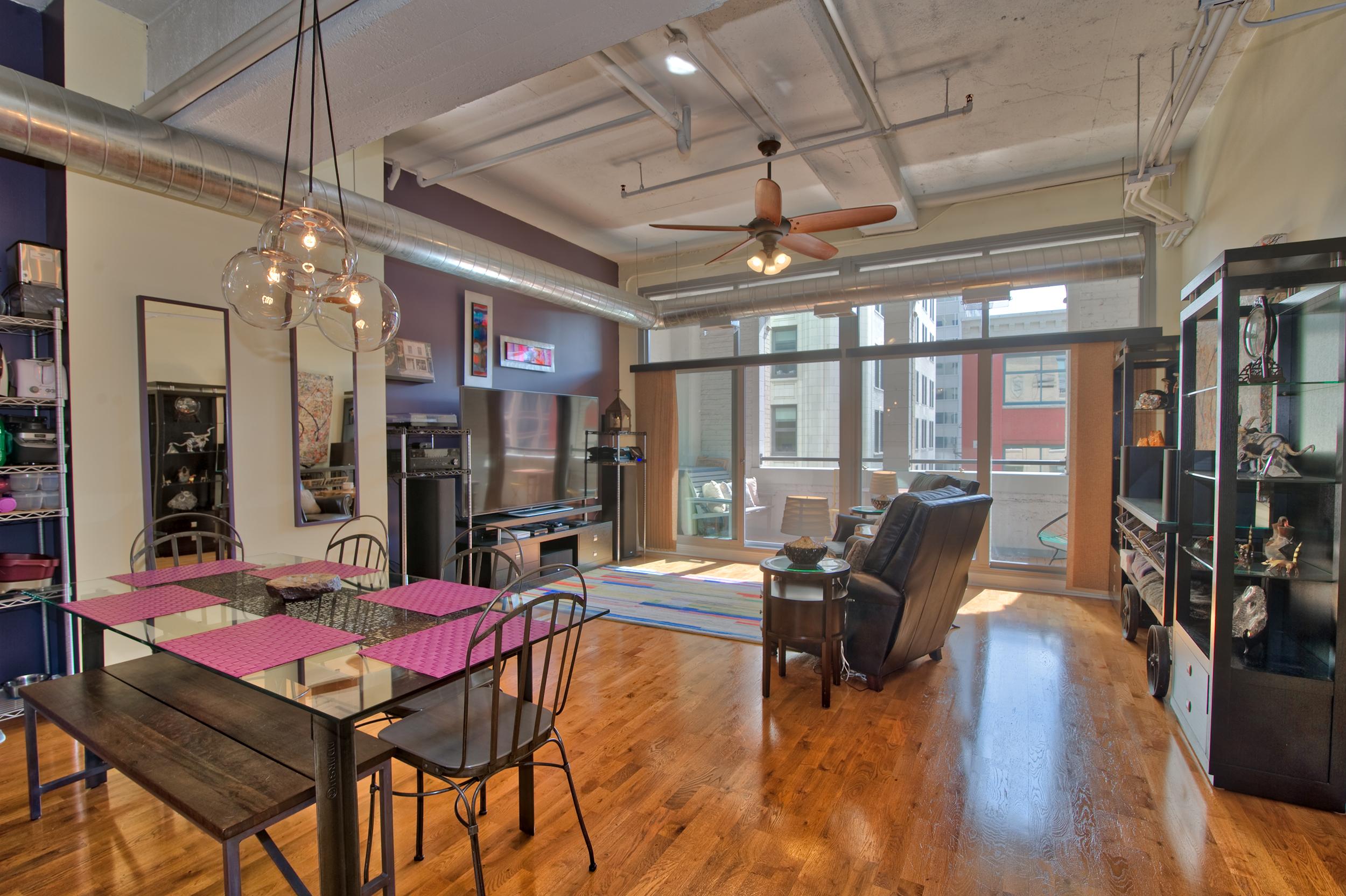 Modern lofted living space