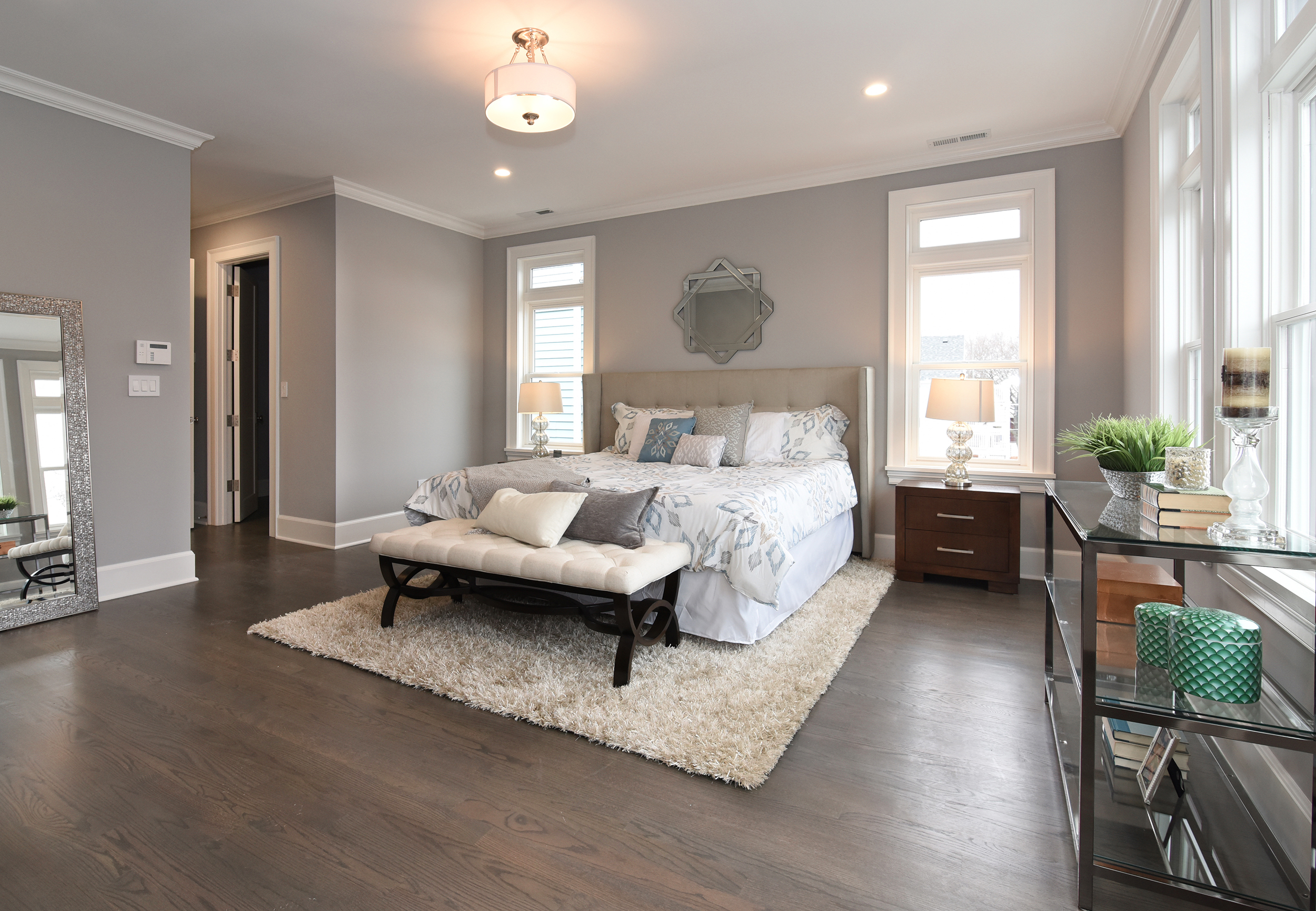 A real world example of a single exposure. A second exposure for the window would have brought in detail but the agent decided that a view of the neighbor's house out the master bedroom window would not help draw potential buyers to the property. Less can often be more..