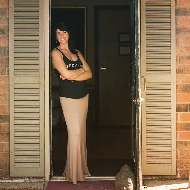 """6 years ago today... I quietly opened this door to the public in hopes there were others like me searching for a hot yoga studio home in Canton. 2/18/13 I took a huge leap of faith. I had recently moved back into my parents house at 26 years old and couldn't land that elusive """"real"""" job. I signed a 3 year lease here originallly even after the landlord said to be safe I should maybe just sign a year because I didn't have a """"following"""" ( ps I think that word is lame) and no one was going to come do """"hot"""" yoga ... honey. Yes he said honey. Anywho.... it's been a wild ride here's to hoping it is not over any time soon! Thank you to anyone who has - taken class - taught here - learned something here - cried here - laughed so hard they cried here - graduated here - moved on here - found themselves here and all of the others too! I am in a great debt to you and I will pay you back with my time, respect and energy. I love you all! #lookingback #anniversary #6 #yoga #yogastrong"""