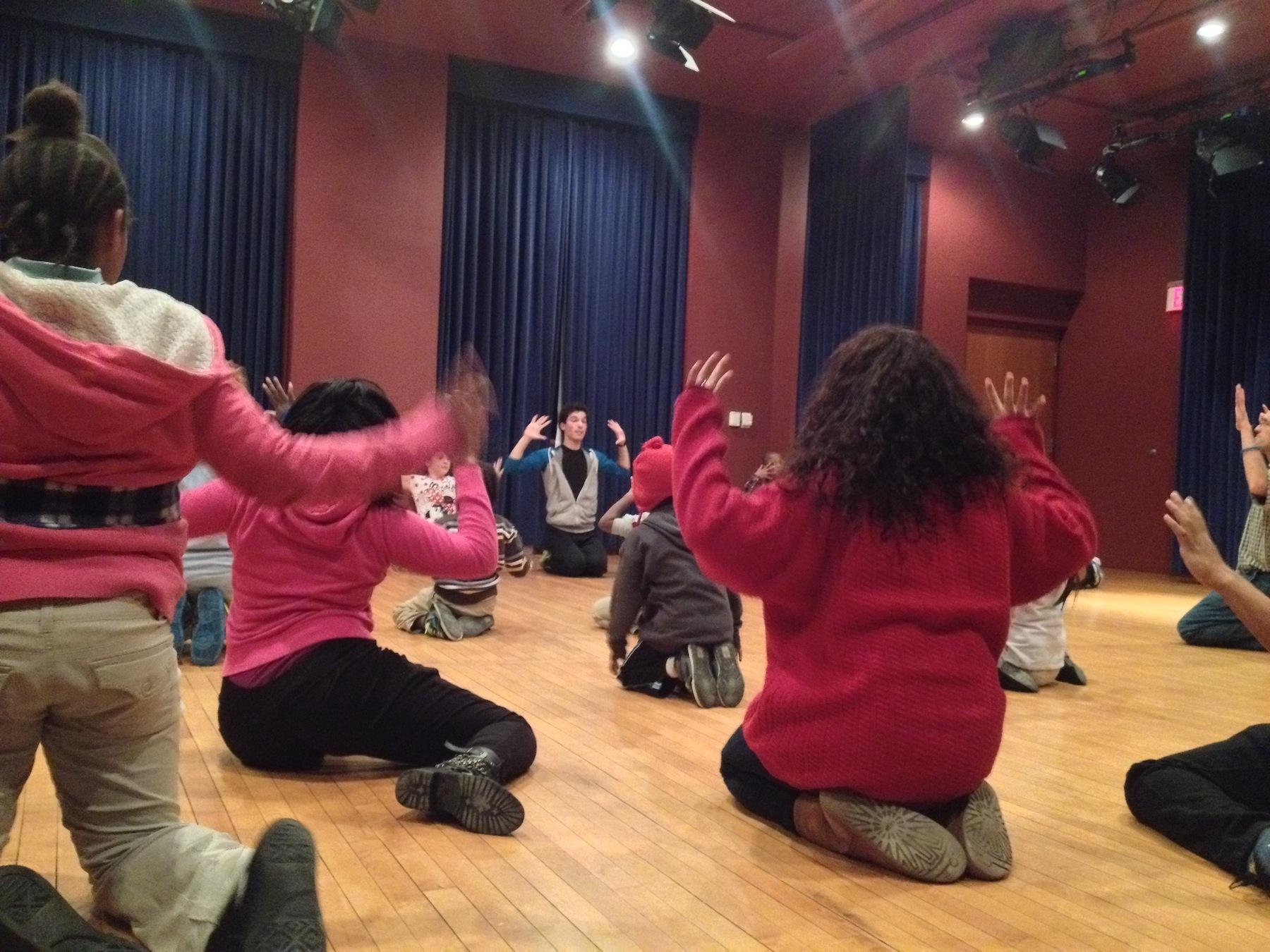 Kory leading a McCarter/HomeFront dance workshop