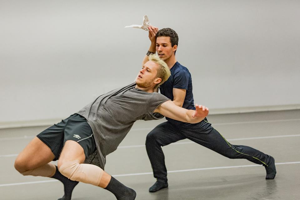 In rehearsal with Denzel Taylor (Broadway Dance Lab)  Credit:Daniel Robinson