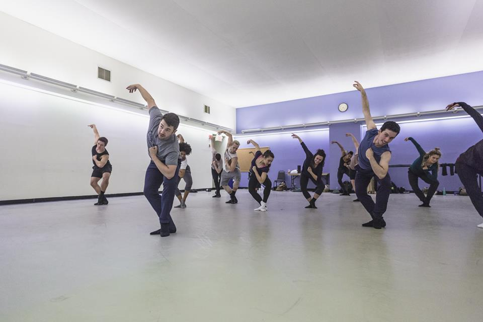In rehearsal with Al Blackstone (Broadway Dance Lab)  Credit:Daniel Robinson