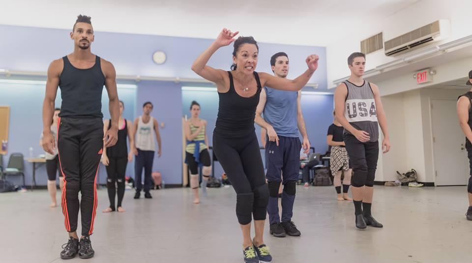 In rehearsal with JoAnn Hunter (Broadway Dance Lab)  Credit:Daniel Robinson