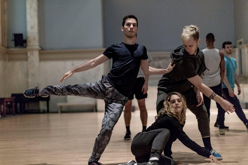 In rehearsal with Larry Keigwin (Broadway Dance Lab)  Credit:Daniel Robinson