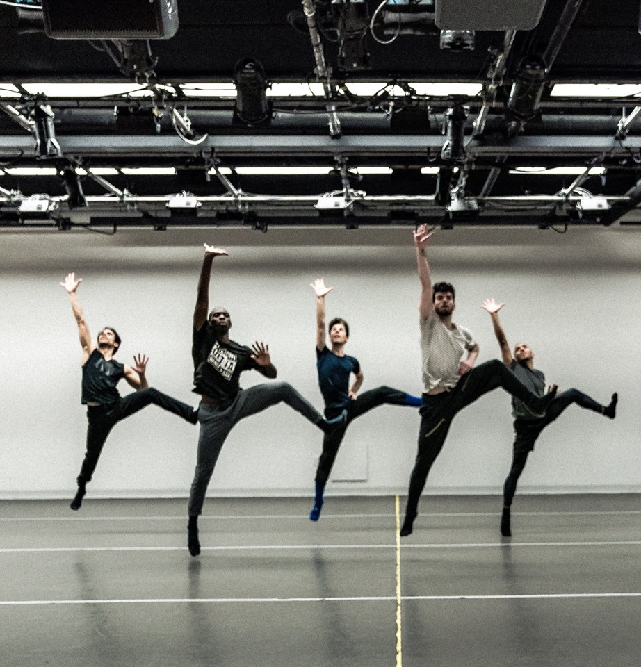 In rehearsal with Brooke Wendle (Broadway Dance Lab)  Credit: Daniel Robinson