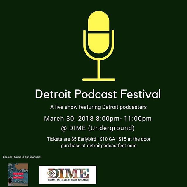We are proud to be apart of the Detroit Podcast Festival on March 30th @8pm! Audiowave's @yblpodcast, @trilltrice & @fav.babymama will be a few of the podcasts that will be featured during the festival. Purchase tickets at DetroitPodcastFest.com. Early bird tickets are $5 and $15 at the door. 100% of the proceeds go to fund a scholarship for an upcoming creative in Detroit through the Scholarship Detroit Initiative