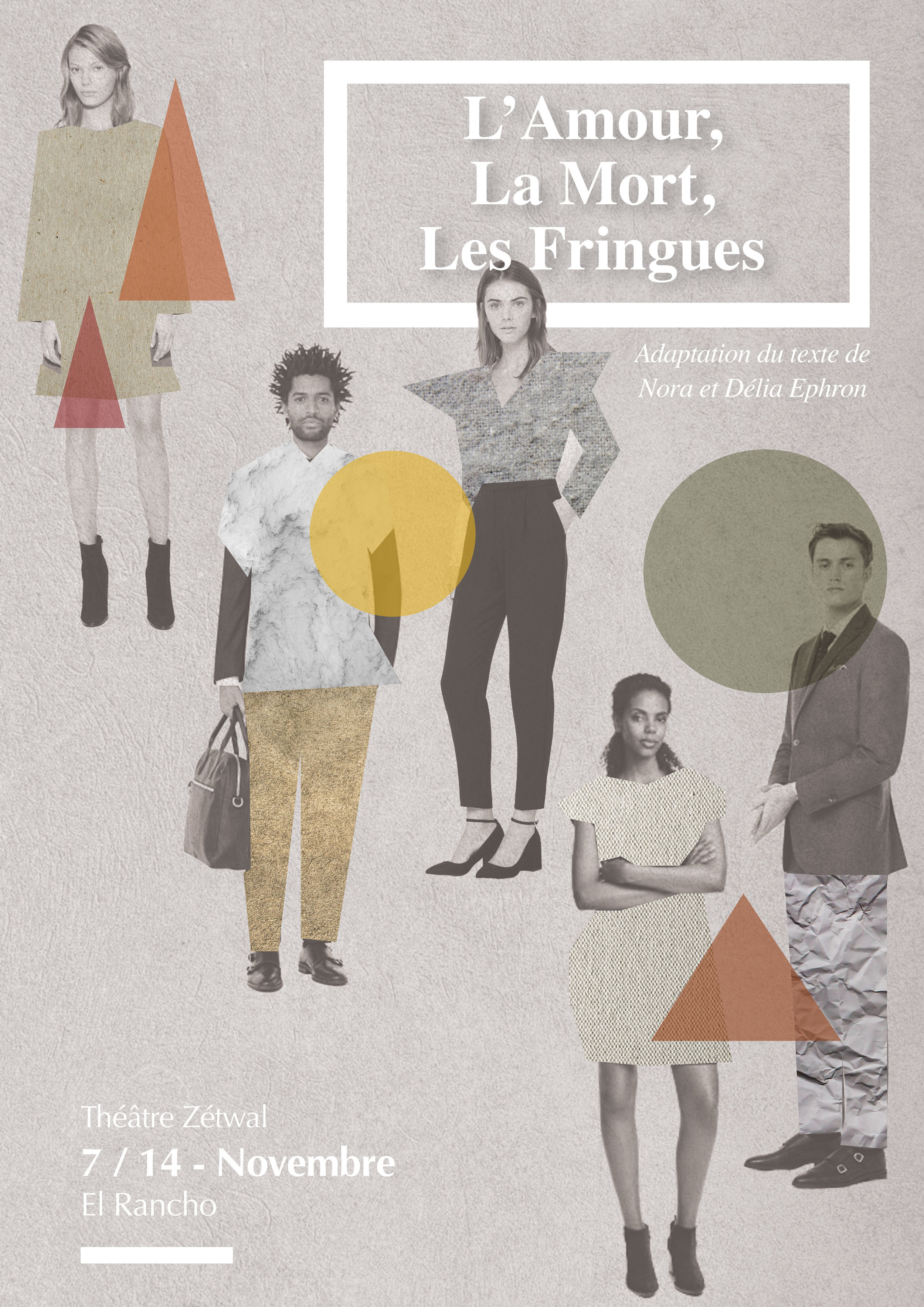 Affiches et billets pour une compagnie de théâtre Poster and tickets for theater compagny