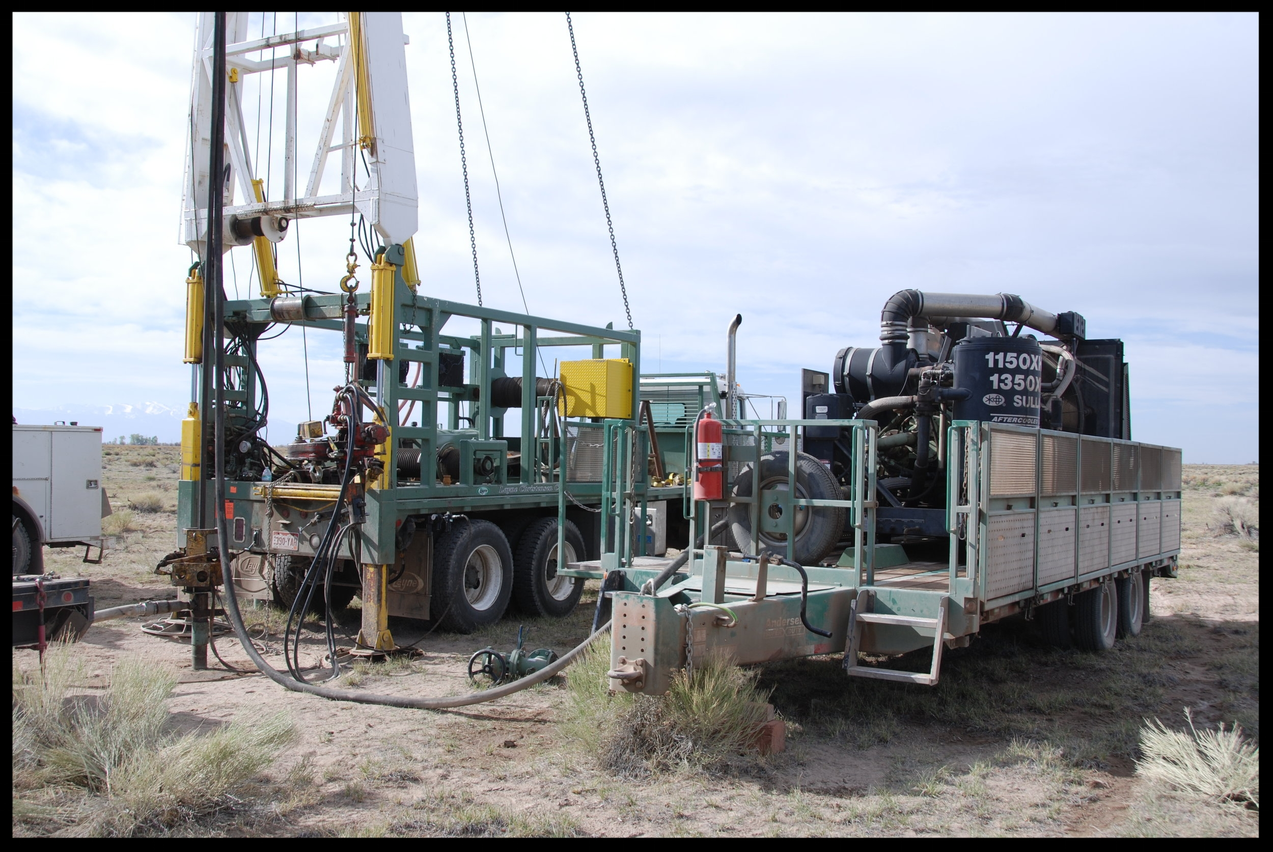 Drilling ground water monitoring wells